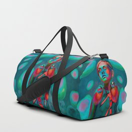 """Psychedelic Pop Fantasy"" (Twiggy) Duffle Bag"