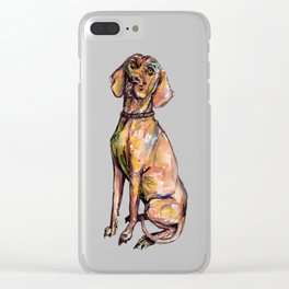 Hungarian Vizsla Dog Clear iPhone Case