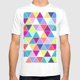 Multi Colour Triangle; T-shirt