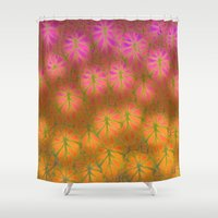 rare Shower Curtains featuring Rare Jungle, Dawn by Lindel Caine
