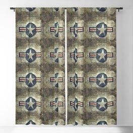 USAF vintage retro style roundel Blackout Curtain