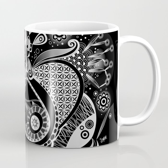 Spring tangle, black Coffee Mug