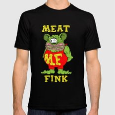 Meat Fink Mens Fitted Tee LARGE Black