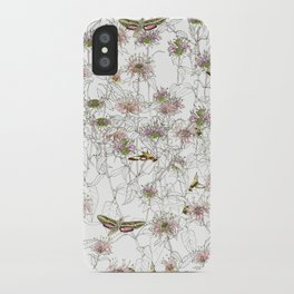 Moths on Bee Balm iPhone Case