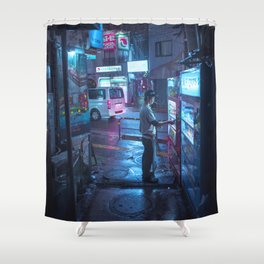 Smoke and Coffee Shower Curtain
