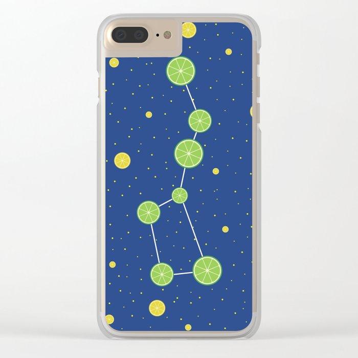 Citrus constellations Clear iPhone Case