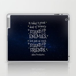 STAND UP TO OUR FRIENDS - HP1 DUMBLEDORE QUOTE Laptop & iPad Skin