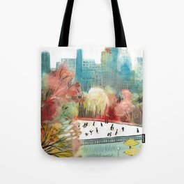 Wollman Rink Central Park Tote Bag