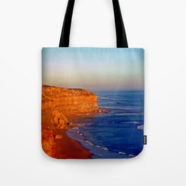 Sunsets on the limestone Cliffs Tote Bag