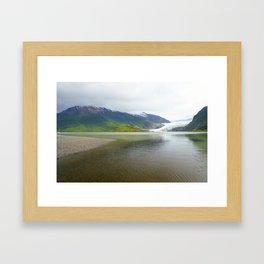 Mendenhall Glacier Juneau Alaska Framed Art Print