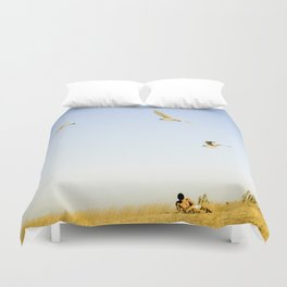 On the beach Portugal Duvet Cover