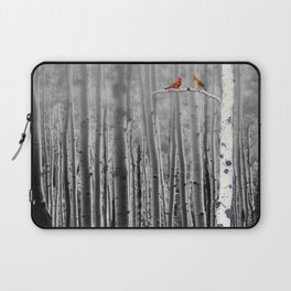 Red Cardinals in Birch Forest A128 Laptop Sleeve