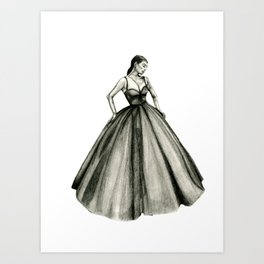 girl dress sketch  Art Print