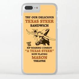 Texas Steer Sandwich Clear iPhone Case