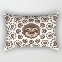 Totally Slothsome Mandala Sloth Art Design Rectangular Pillow