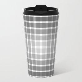 Optical illusion with black strips Travel Mug