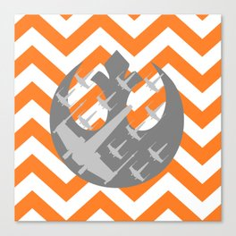 Star Wars Wraith Squadron and Chevrons Canvas Print