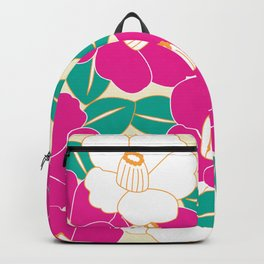 Shades of Tsubaki - Pink & White Backpack
