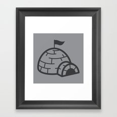 gray igloo Framed Art Print