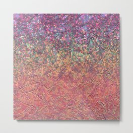 Sparkley Grunge Relief Background G179 Metal Print