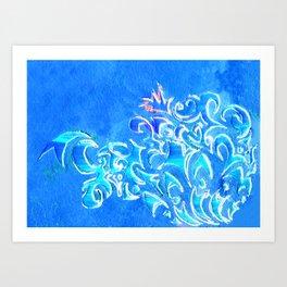 Cerulean Pattern Art Print