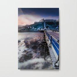 Snowey Saltburn Metal Print