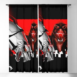 the mecha, the lizard and the ape in kaiju madness ecopop Blackout Curtain