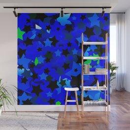 Punk Rock Stars Blue Wall Mural
