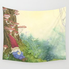 The Sleeping Gnome Wall Tapestry