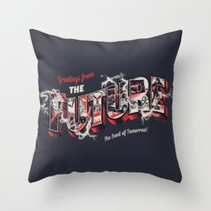 Greetings from the future Throw Pillow