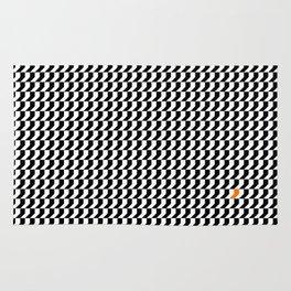 Orange: Black And White Pattern Rug