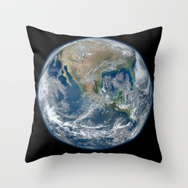 North America from Space Throw Pillow
