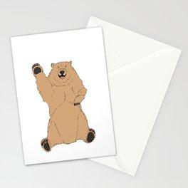 Waving Bear Stationery Cards