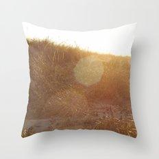 Montauk Sand Dune Sunflare Throw Pillow