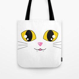 Kawaii Kitty Face Tote Bag
