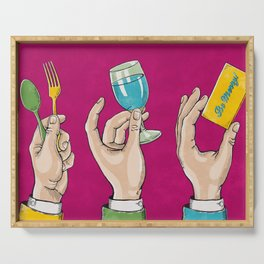 Eat, Drink & Be Merry! Serving Tray