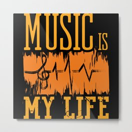 Acoustic Song Video Music Is My Life Metal Print