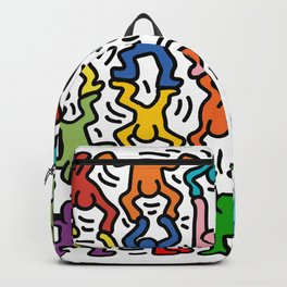 Homage to Keith Haring Acrobats II Backpack