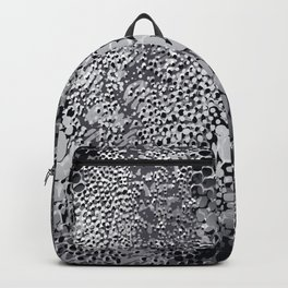 gush of dots in black and white Backpack