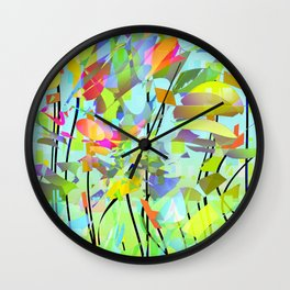 showers bring flowers Wall Clock