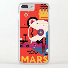 NASA Retro Space Travel Poster #9 Mars Clear iPhone Case