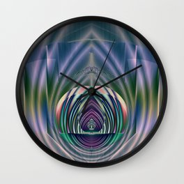 Fractal Teardrop Wall Clock