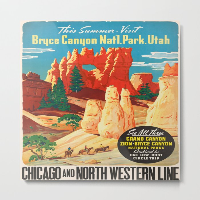 Vintage poster - Bryce Canyon Metal Print