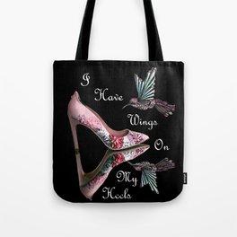 Wings On My Heels Tote Bag