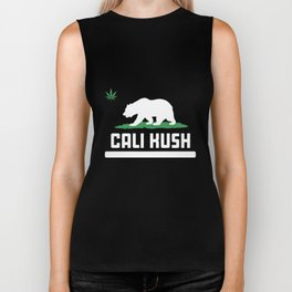 Cali Kush Grizzly Bear California Weed Pot 420 Ganja Toke Stoner California T-Shirts Biker Tank
