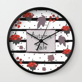 Autumn Sale. Advertising Card Wall Clock