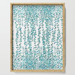 string of pearl watercolor Serving Tray