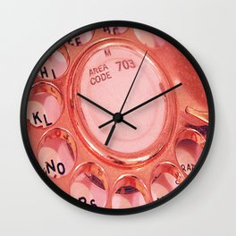 Vintage Telephone Photograph Wall Clock