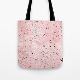 Blush and gold marble terrazzo design Tote Bag