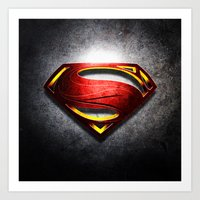 man of steel Art Prints featuring Man of Steel by bimorecreative